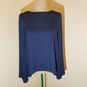 Blaque Label navy blue fold over open back top